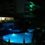 our view .. main pool by night
