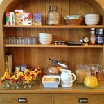 The self service dresser.  Toast and cooked breakfasts were brought to the table