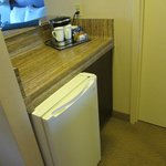 Refrigerator with counter space