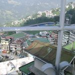 Gangtok Valley & Paljor Stadium from our hotel window