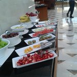 Fruit bar at breakfast