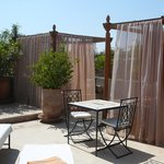The roof top cabanas