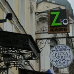 Green Z sign-Hostel near to this