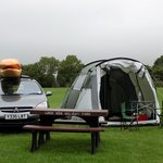 Camping and hogging a table