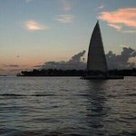 Key West sunset from Mallory Square (just blocks from Knowles House)