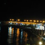 Night Platamonas port panorama