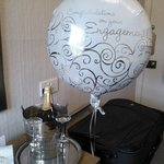 our balloon & sparkling wine!
