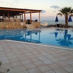 the pool and beachbar at La Playa, Malia, Crete (GR)