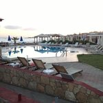 the pool and the view towards Malia, Crete (GR)