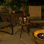 Romantic Fire Pit With Wine