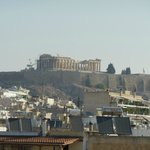 The view of Acropolis from the roofgarden
