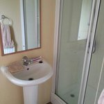 shower room in silver plus caravan