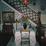 The dining room & staircase to upstairs.