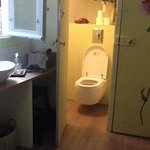 toilet near kitchen for romantic room