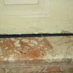 Bathroom door rotting away