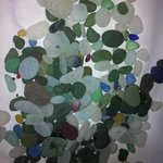 my morning's collection of seaham sea glass pebbles