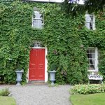 Ivy covered front of house