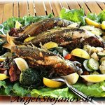 fish platter with fresh vegetables-Everything from the chef Angel Stojanovski