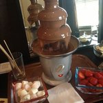 chocolate fountain in room :)