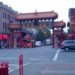 The gates to China Town
