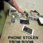 Phone was GONE when we came back!!!!