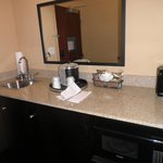 Coffee and sink area in our room!