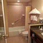 Bathroom in 905.  Clean and well stocked.