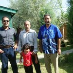 me and my daughter with Mr Nazeer and Mr Rahim