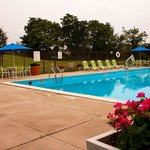 Relax and unwind at our outdoor pool open Memorial to Labor Day
