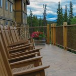Terrace overlooking the Chena River