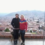 en la terraza del hostal cusco view point