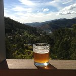 bright brewery beer with our beautiful view from studio 3