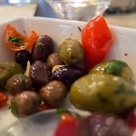 Warm Olives, Fresh Herbs, Peppadew Peppers, Garlic, Olive Oil