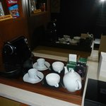 Paid tea and coffee in room