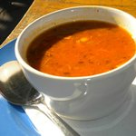 cup of spicy chicken stew
