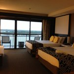 View from inside room facing Bay Lake in main tower