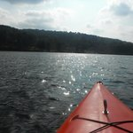 Kayaking on Deep Creek Lake on 9/10/13