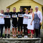 Cadleigh Manor's amazing owners with the cycling team