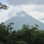 Great view of Arenal volcano at Baldi