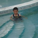 My son.. Enjoyed the pool so much..