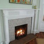 Fireplace in the Catlette Suite