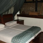Beds with nice heavy mosquito nets