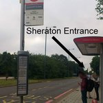 Bus stop near Sheraton Heathrow Hotel