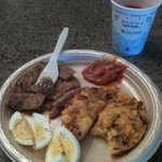 My Fav. Bagel Toppers,H/B eggs&Sausage