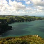 Looking down from Little Hangman Combe Martin