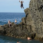 Cliff diving galore