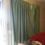 these curtains wouldn't close right,smelled, and were smokey yellow instead  of white