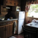 pine cabin kitchen