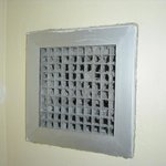 Grate in bathroom