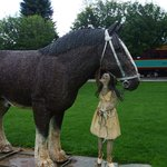 Woven figure of horse & girl @ the stop made during train ride (One Hour)